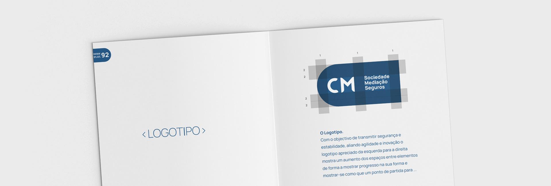 Read more about the article Logo + Brand Style Guide – CM Sociedade Mediação Seguros